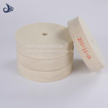 Abrasive Tools 0.55g/cm3 density low price felt wheel/wool felt polishing wheel