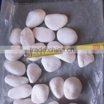 Snow white pebble stone for garden