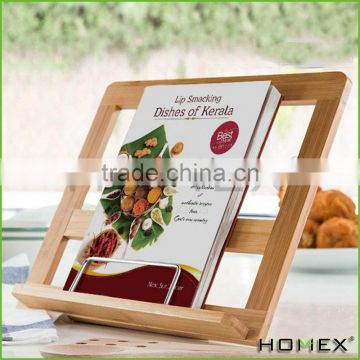 Bamboo cook book stand wood Homex-BSCI