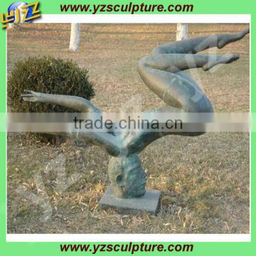 garden bronze naked woman statue for sale