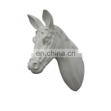 Lifelike resin animal horse head/OEM resin horsehead statue for home decoration