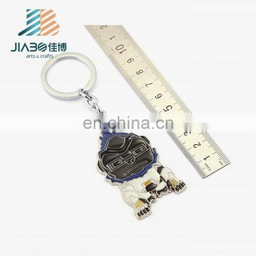Wholesale Metal custom logo anime cartoon metal key chain ring