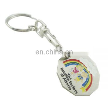 custom plate silver metal embossed rainbow trolley token