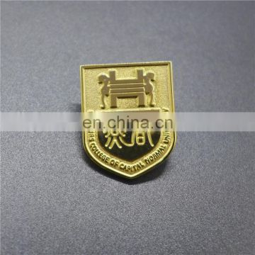 Custom antique gold plating lapel pin badge