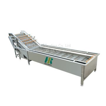 Bubble type fruit vegetable washing machine for pear / apple