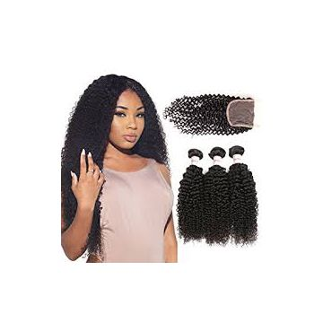14 Inch Mixed Color Afro Curl Soft And Luster Front Lace Human Hair Wigs Tangle free
