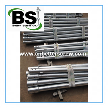Round Shaft Helical Piers (pilings) for Housing Raising & Support