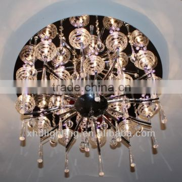 Modern flat ceiling lamp / LED and G4 crystal big ceiling lamp /Lighting manufacture / zhongshan guzhen