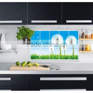 Easily removable dandelion background Kitchen tiles oil proof aluminum foil oil paste decorative Kitchen wall stickers AY3004