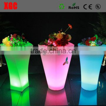 nova olla flori /plastic flower pot/led vertical garden, Remote control led light flower pot,Plastic big outdoor led flower pots