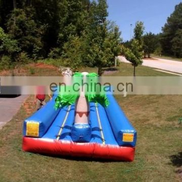 Hot palm theme inflatable Water slip n Slide for events
