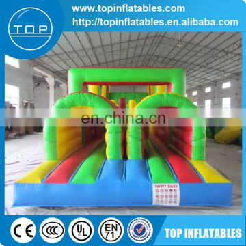 Inflatable obstacle course,double channel inflatable obstruction