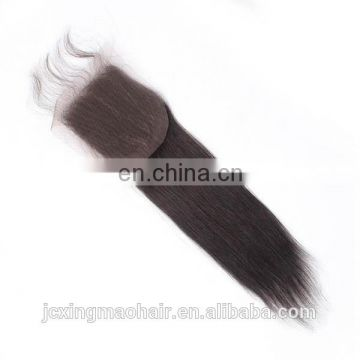 "brazilian hair 4x4 lace closure pieces,10"" to 24""virgin brazilian human hair closure piece"