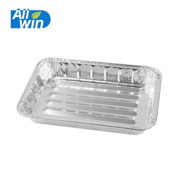 Promotion!!! Aluminium foil chicken grill lunch box aluminium food packaging container
