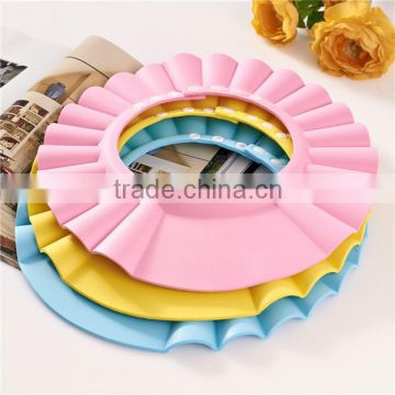 baby head protector Great quality EVA baby shower caps printing plastic baby shampoo bath caps