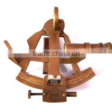 BRASS SHIP SEXTANT - BRASS MARINE SEXTANT - NAUTICAL ANTIQUE SEXTANT