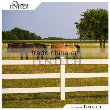 Fentech fence High quality white PVC paddock fencing
