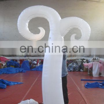 advertising decoration charming inflatable pillar with led light