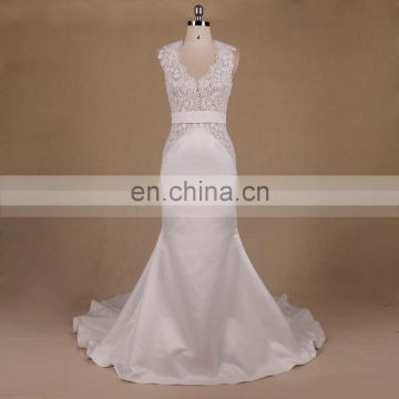 Backless mermaid wedding gown malaysia simple bride wedding dress