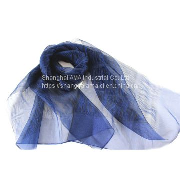 Pure color luxury summer silk scarf for women