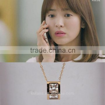 Korean show heroine chunky diamond necklace diamond necklace designs 2013
