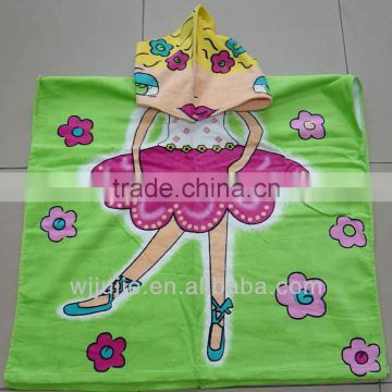 Microfiber children hooded beach towel