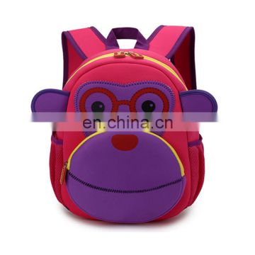 2017 Fashion Design Monkey Cartoon kids backpack for wholesale