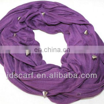 Special offer low price new fashioned luxury scarf jewelry solid color with rivet scarf jewelry
