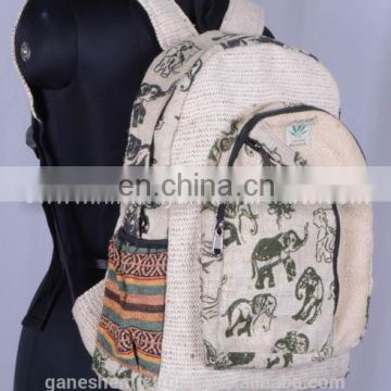 Elephant Printed Backpack HBBH 0018c