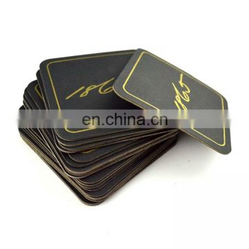 cheaper price printed cardboard coasters with logo
