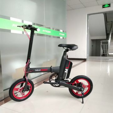 ivelo M1 electric folding bike,14 inch motor,pure electric and assisted riding two modes,electric bike