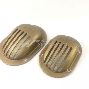 High quality Bronze round and oval grated strainer for boats and yachts.