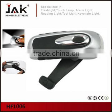 JAK HF1006 CE certificated 3 LED wind up flashlight