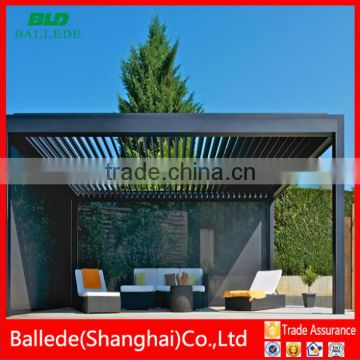automatic waterproof sun shade roof louver pergola