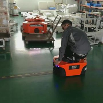 China material handling production line Magnetic Tape Guided Small ELFIN automatic guided vehicle robot