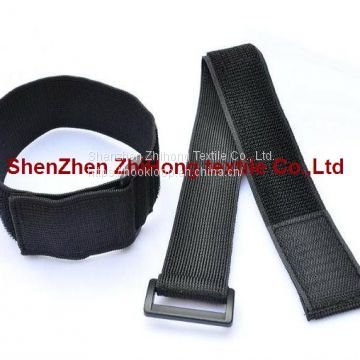 With buckle clasp nylon hook loop elastic fastener binding strap/wrist/armband straps