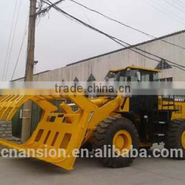 Heavy duty root rake brush grapple for front end loader 950H
