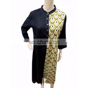 Black And Green Beautiful Designer Ethnic Cotton Wear Women's Clothing