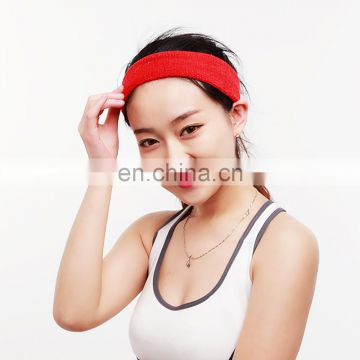 Multifunctional solid color personalized sport headbands for women towel hair band