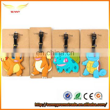 Airplane bulk rubber luggage tags in cute animal shape