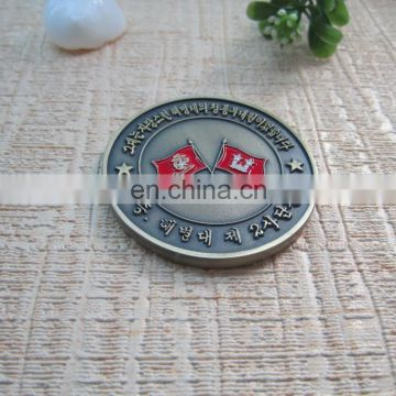 Epoxy silver metal coin with custom design eagle shape metal challenge souvenir coin