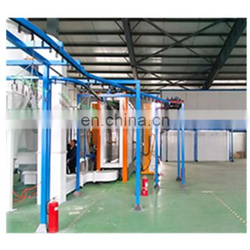 Automatic powder coating booth for aluminium profiles 69