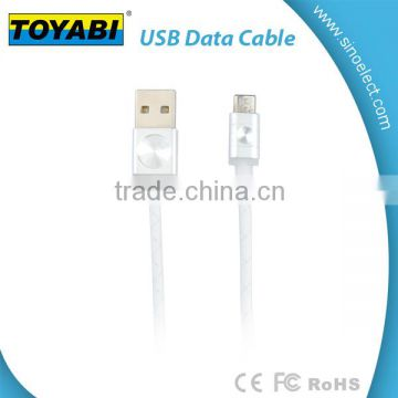 PET Braided High Speed USB 2.0 A Male to Micro USB Male Charging Cable, Data Sync Cable Cord For Android