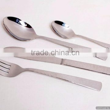 stainless steel shiny polished finished cutlery sets