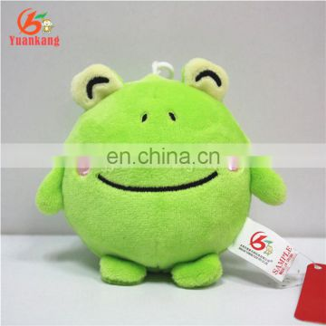 CE Approval Stuffed Frog Animal Soft Toys for Promotional Hanging Gifts