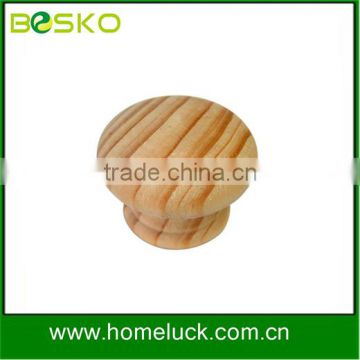 Delicate wooden knob beauty round wood knob for dresser