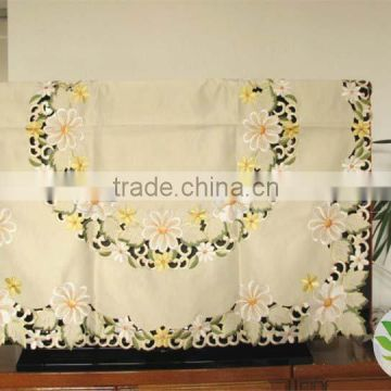 Full heat transfer emroidery lovey wedding table cloth