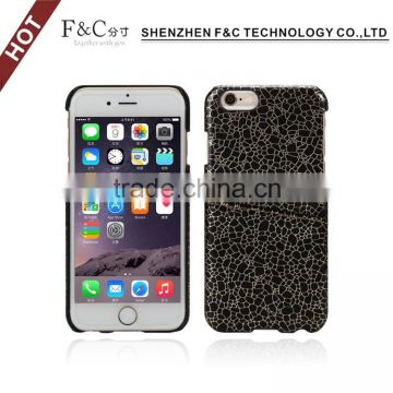 hard plastic pc back cover for iphone 6s 7 pc pu cover with card slots