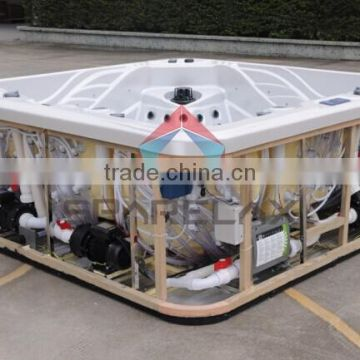 2017 Shenzhen China Supply Water-Proof TV and Massage Spa 7 Person Hot Tub