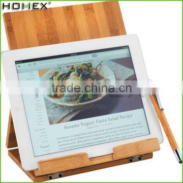 Bamboo cookbook stand and pad holder Homex-BSCI